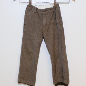 Janie And Jack Herringbone Brown Pants Boys 5T